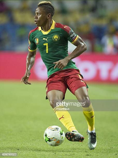 NJIE of Cameroon during the Group A match between Cameroon and Guinea Bissau at Stade de L'Amitie on January 18 2017 in Libreville Gabon