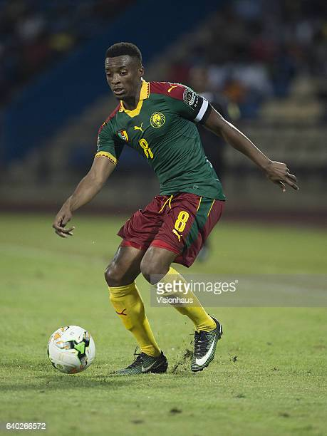 MOUKANDJO of Cameroon during the quarterfinal match between Senegal and Cameroon at Stade Franceville on January 28 2017 in Franceville Gabon