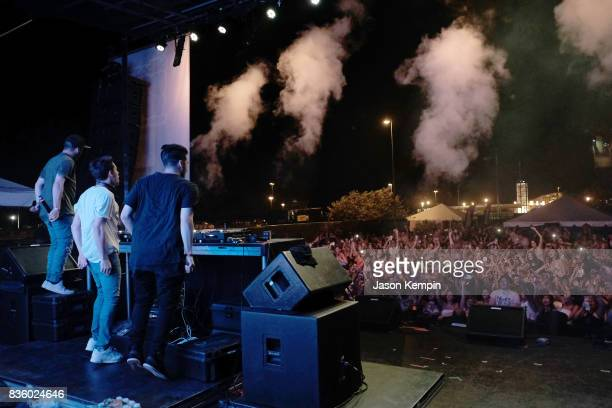 of Cash Cash perform during Day Two of 2017 Billboard Hot 100 Festival at Northwell Health at Jones Beach Theater on August 20 2017 in Wantagh City