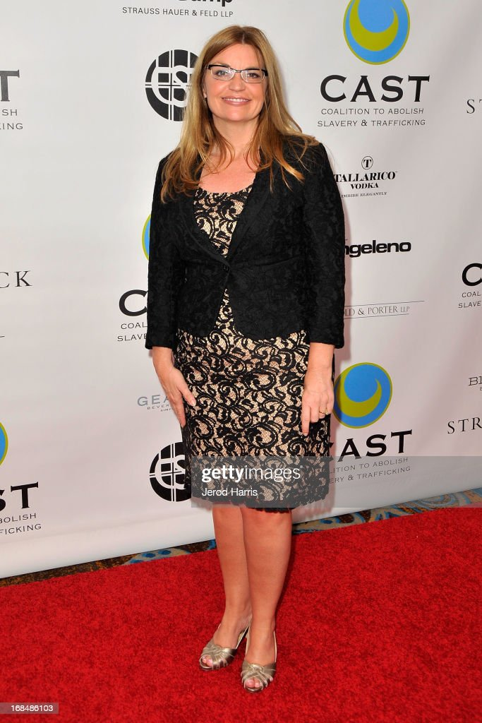 CEO of CAST Kay Buck arrives at the Coalition To Abolish Slavery and Trafficking's 15th Annual From Slavery to Freedom gala at the Sofitel Hotel on May 9, 2013 in Los Angeles, California.