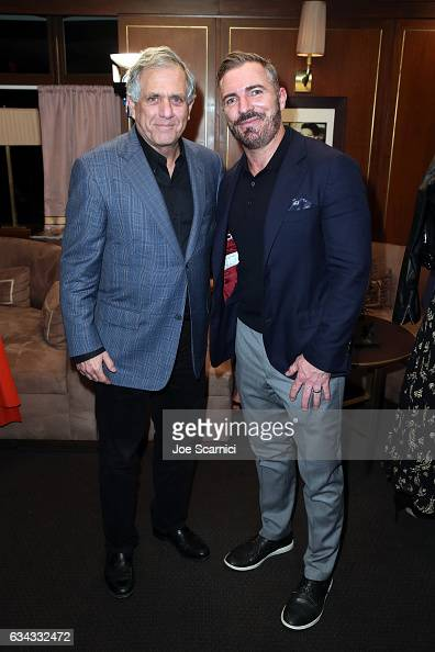 CEO of CBS Leslie Moonves and publisher of Esquire Jack Essig attend Esquire's celebration of March cover star James Corden and the Mavericks of...