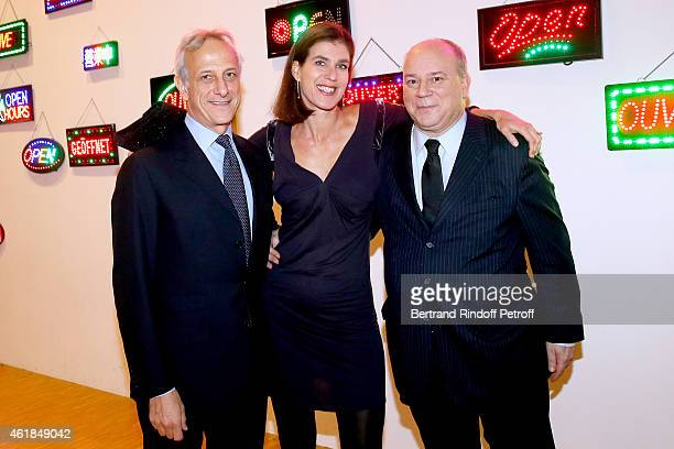 CEO of Christie's France Francois de Ricqles Vanessa Menesguen and Academician Marc Lambron attend the 'Societe des Amis du Musee National d'Art...