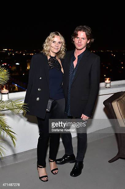 CEO of Christopher Kane Sarah Crook and creative director Christopher Kane attend Christopher Kane x mytheresacom dinner at Chateau Marmont on April...