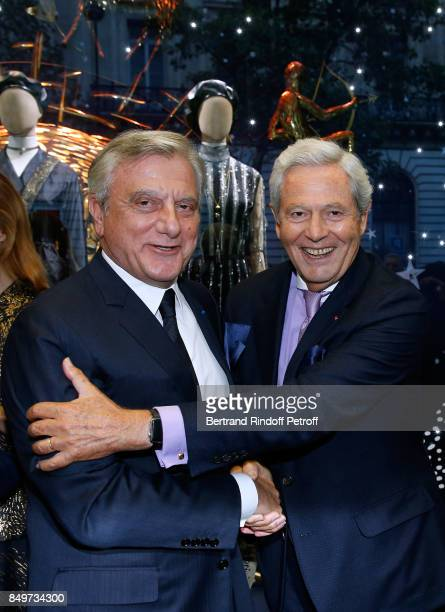 CEO of Dior Sidney Toledano and Chairman of the Board of Galeries Lafayette Group Philippe Houze attend the Inauguration of the Dior showcases at...