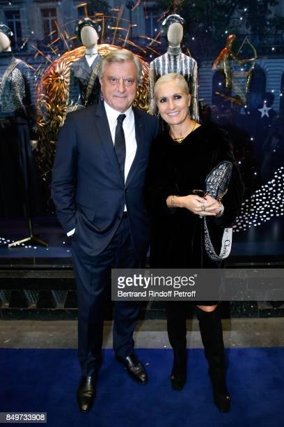 CEO of Dior Sidney Toledano and Stylist of Dior Maria Grazia Chiuri attend the Inauguration of the Dior showcases at Galeries Lafayette for Christian...