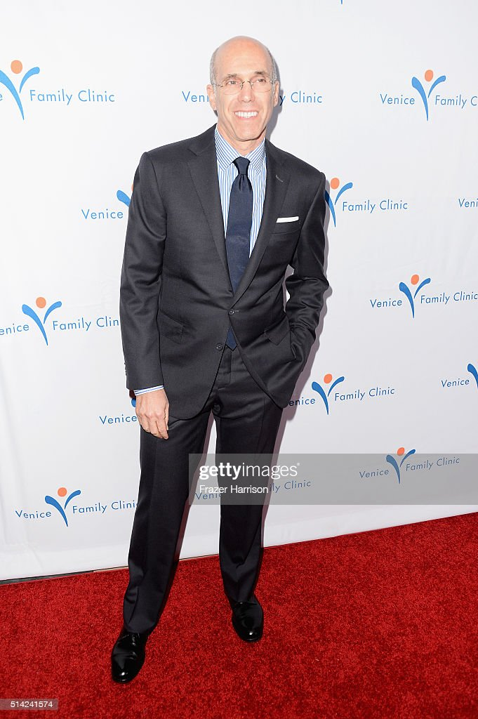 CEO of DreamWorks Animation and producer <a gi-track='captionPersonalityLinkClicked' href=/galleries/search?phrase=Jeffrey+Katzenberg&family=editorial&specificpeople=171496 ng-click='$event.stopPropagation()'>Jeffrey Katzenberg</a> attends the Venice Family Clinic Silver Circle Gala 2016 honoring Brett Ratner and Bill Flumenbaum at The Beverly Hilton Hotel on March 7, 2016 in Beverly Hills, California.