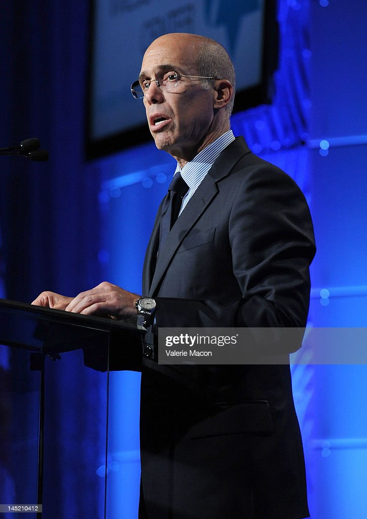 CEO of DreamWorks animation <a gi-track='captionPersonalityLinkClicked' href=/galleries/search?phrase=Jeffrey+Katzenberg&family=editorial&specificpeople=171496 ng-click='$event.stopPropagation()'>Jeffrey Katzenberg</a> attends the Simon Wiesenthal Center's Annual National Tribute Dinner Honoring Jerry Bruckheimer at The Beverly Hilton Hotel on May 23, 2012 in Beverly Hills, California.