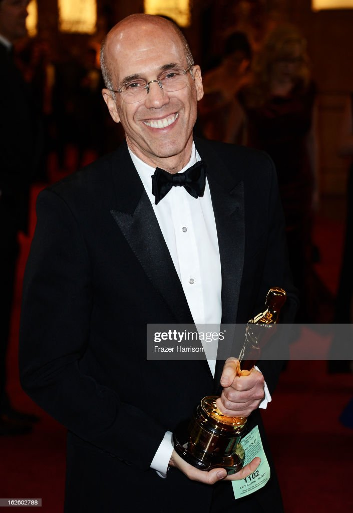 CEO of DreamWorks Animation Jeffrey Katzenberg departs the Oscars at Hollywood & Highland Center on February 24, 2013 in Hollywood, California.