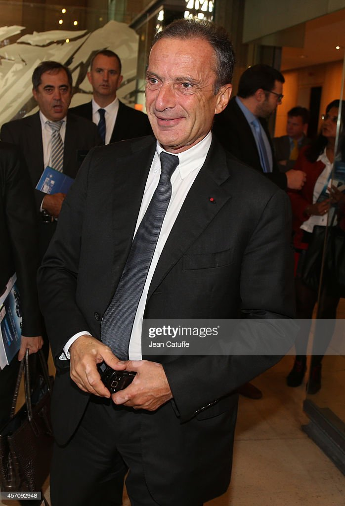 CEO of EDF Electricite De France) <a gi-track='captionPersonalityLinkClicked' href=/galleries/search?phrase=Henri+Proglio&family=editorial&specificpeople=569837 ng-click='$event.stopPropagation()'>Henri Proglio</a> participates at the 'World Summit Of Regions For Climate' at Palais d'Iena on October 11, 2014 in Paris, France.