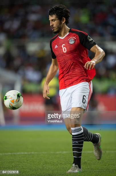 HEGAZI of Egypt during the CAN 2017 FINAL between Egypt and Cameroon at Stade de L'Amitie on February 05 2017 in Libreville Gabon
