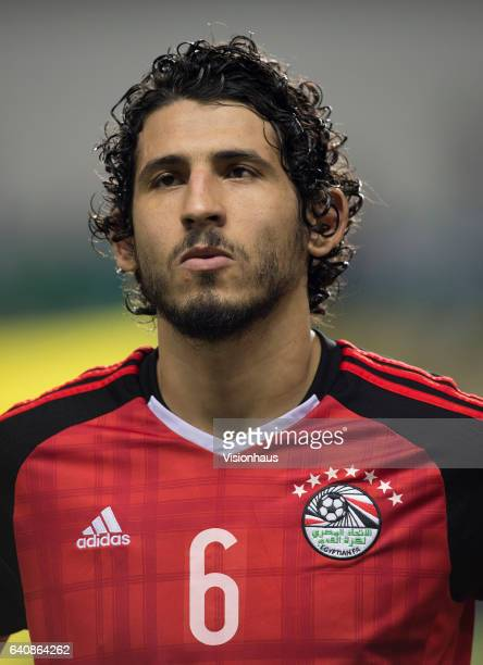 HEGAZI of Egypt during the semifinal match between Burkina Faso and Egypt at Stade de L'Amitie on February 01 2017 in Libreville Gabon