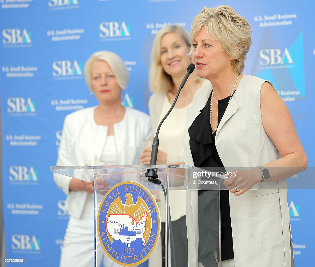 VP of Equator Coffee Maureen McHugh, Co-founder of Equator Coffee Brooke McDonnell and Co-founder and CEO of Equator Coffee Helen Russell speak after being honored on Day 2 of National Small Business Week 2016 at the United States Institute of Peace on May 2, 2016 in Washington City.