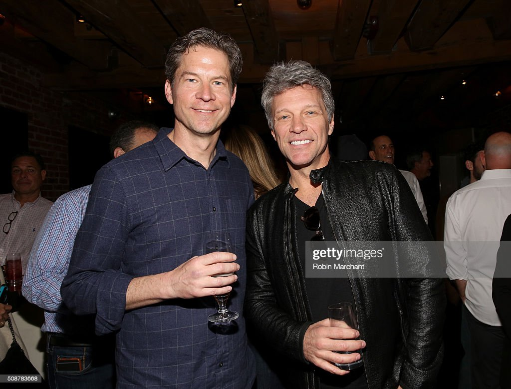 CEO of Fanatics Doug Mack and recording artist <a gi-track='captionPersonalityLinkClicked' href=/galleries/search?phrase=Jon+Bon+Jovi&family=editorial&specificpeople=201527 ng-click='$event.stopPropagation()'>Jon Bon Jovi</a> attend Fanatics Super Bowl Party on February 6, 2016 in San Francisco, California.