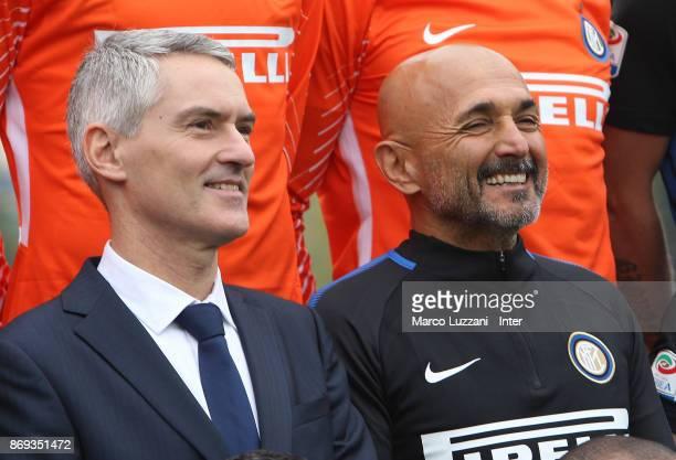 CEO of FC Internazionale Alessandro Antonello and FC Internazionale Milano coach Luciano Spalletti during the FC Internazionale Official Photoshoot...