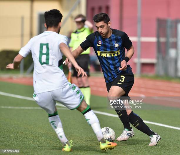 of FC Internazionale in action during the Viareggio juvenile tournament match between FC Internazionale and US Sassuolo at Stadio Comunale on March...