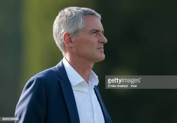 CEO of FC Internazionale Milano Alessandro Antonello looks on during the FC Internazionale training session at the club's training ground Suning...