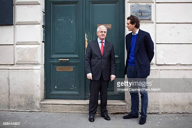 CEO of Fiat Chrysler Automobiles John Elkanni is photographed for Paris Match in Paris visiting his former high school Lycee Victor Duruy and head...