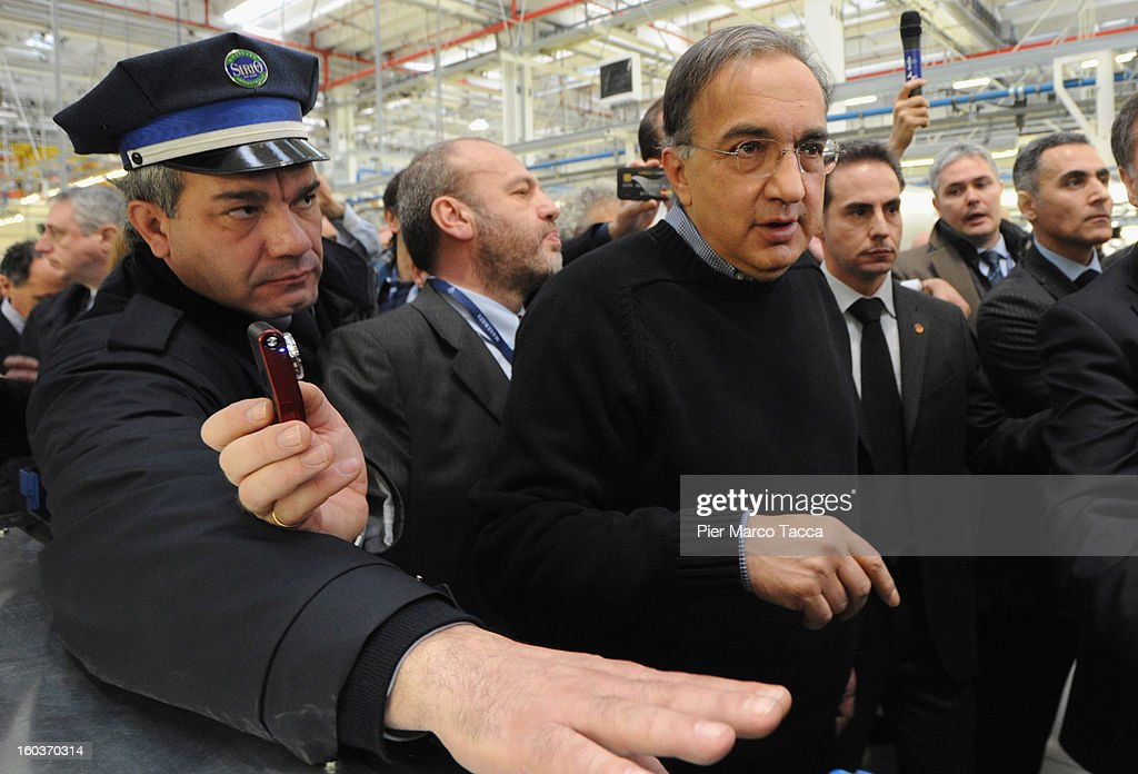 CEO of FIAT group <a gi-track='captionPersonalityLinkClicked' href=/galleries/search?phrase=Sergio+Marchionne&family=editorial&specificpeople=608333 ng-click='$event.stopPropagation()'>Sergio Marchionne</a> attends the unveiling of the new Maserati plant in Grugliasco, which has been dedicated to Gianni Agnelli on January 30, 2013 in Turin, Italy. The new plant near the company's headquarters in Turin will produce Maserati's new model of luxury saloon cars, the Quattroporte.