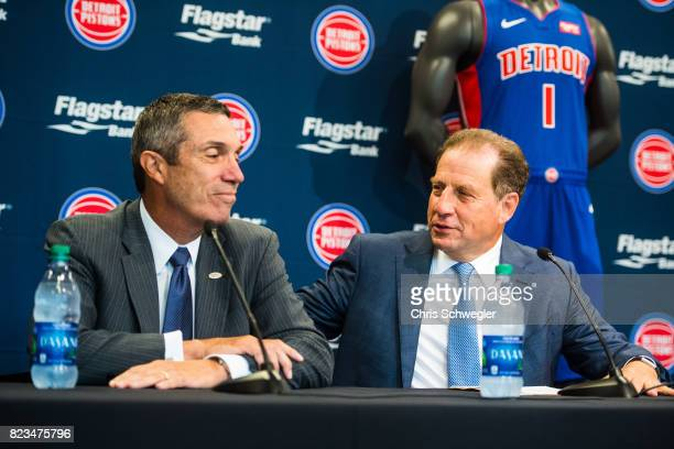 CEO of Flagstaff Bank Alessandro P DiNello and Vice Chairman of the Pistons and Palace Sports Entertainment Arn Tellem announce they will add...