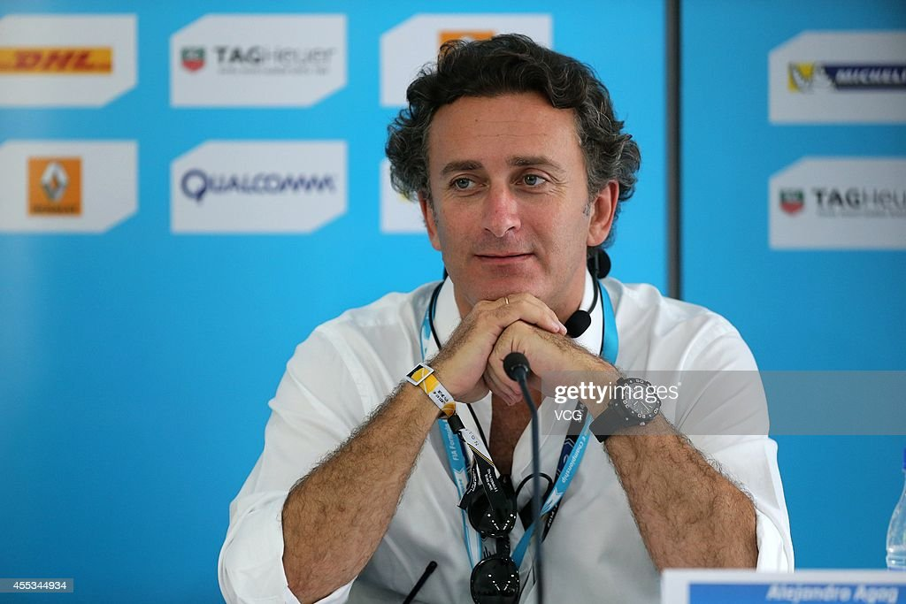 CEO of Formula E Holdings <a gi-track='captionPersonalityLinkClicked' href=/galleries/search?phrase=Alejandro+Agag&family=editorial&specificpeople=2910760 ng-click='$event.stopPropagation()'>Alejandro Agag</a> attends a press conference during the 2014/2015 FIA Formula E Championship - Round 1 game day on September 13, 2014 in Beijing, China.