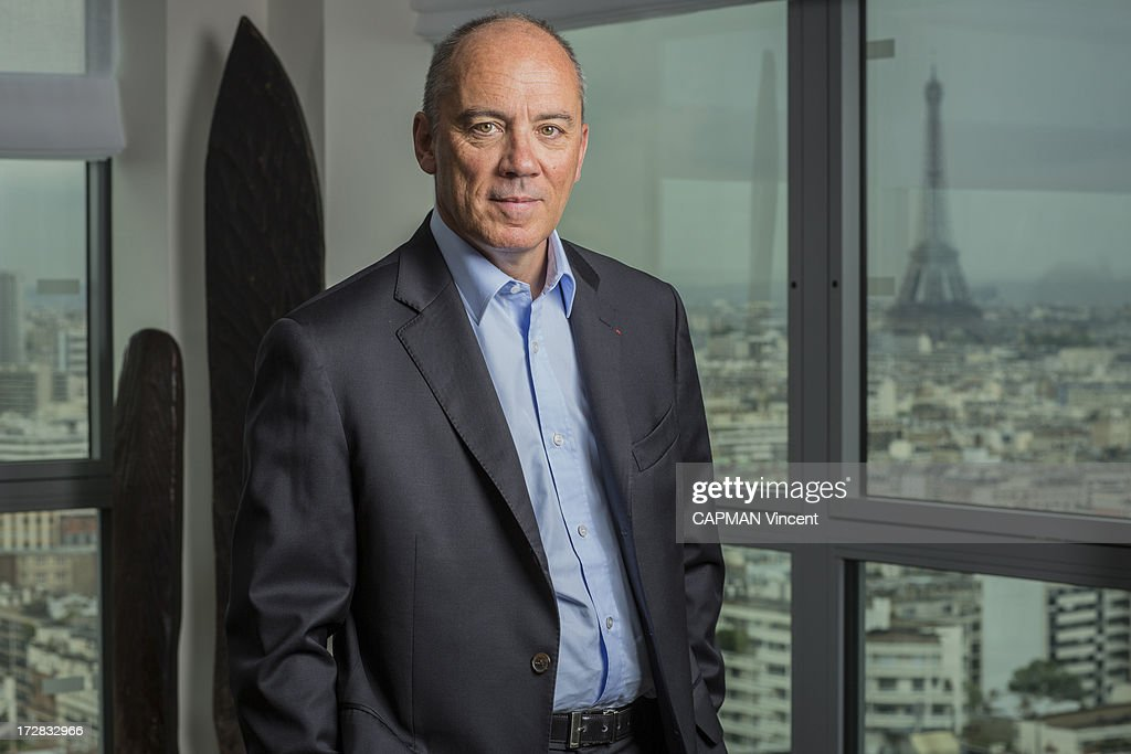 CEO of France Telecom Stephane Richard poses on May 16, 2013 in Paris, France.