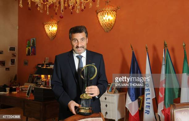 CEO of French construction company Groupe Altrad and President of the Montpellier Rugby club Mohed Altrad poses for a photograph in his office in...
