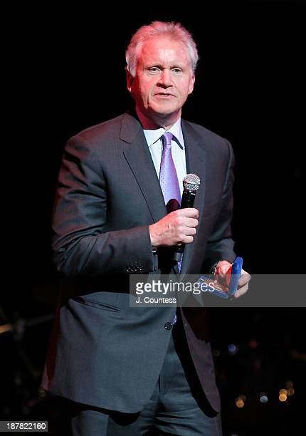 CEO of General Electric Jeffrey Immelt onstage after being honored at the Teachers College 125th Anniversary celebration gala at The Apollo Theater...