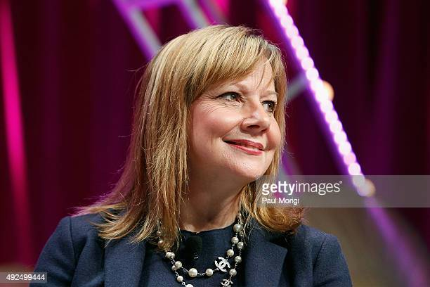 CEO of General Motors Mary Barra speaks onstage during Fortune's Most Powerful Women Summit Day 2 at the Mandarin Oriental Hotel on October 13 2015...