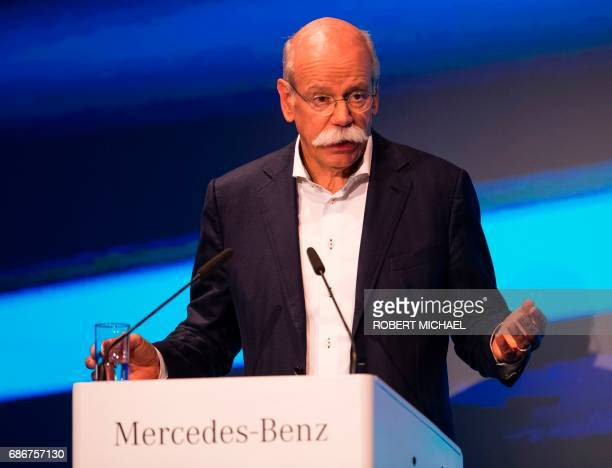 CEO of German carmaker Daimler and MercedesBenz Dieter Zetsche delivers his speech during the opening ceremony for the new plant of the ACCUMOTIVE...