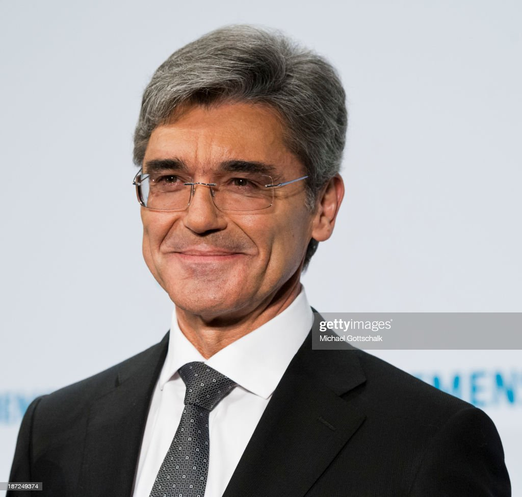 CEO of German engineering giant Siemens AG, Joe Kaeser attends the Siemens annual press conference on November 7, 2013 in Berlin, Germany. German engineering giant Siemens said Thursday it expects to book a further increase in bottom-line earnings in 2014 after achieving its targets this year.