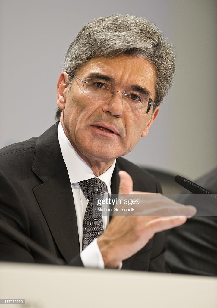 CEO of German engineering giant Siemens AG, Joe Kaeser gestures during Siemens annual press conference on November 7, 2013 in Berlin, Germany. German engineering giant Siemens said Thursday it expects to book a further increase in bottom-line earnings in 2014 after achieving its targets this year.