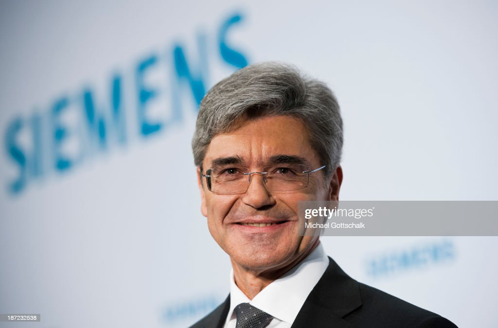 CEO of German engineering giant Siemens AG, Joe Kaeser looks on during Siemens annual press conference on November 7, 2013 in Berlin, Germany. German engineering giant Siemens said Thursday it expects to book a further increase in bottom-line earnings in 2014 after achieving its targets this year.