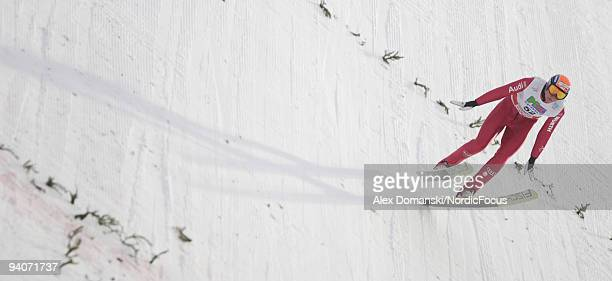93902438 of Germany competes in the Gundersen Ski Jumping HS 138 event during day two of the FIS Nordic Combined World Cup on December 6 2009 in...