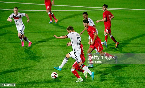 of Germany in action during the 2017 UEFA European U21 Championships Qualifier between Azerbaijan and Germany at Dalga Stadium on September 8 2015 in...
