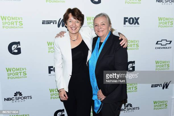 CEO of Gettyimages Dawn Airey and Janey Marks Senior Director Strategic Alliances at Getty Images attends The Women's Sports Foundation's 38th Annual...