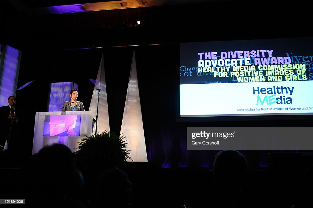 CEO of Girl Scouts of the USA Anna Maria Chavez speaks at the 29th Annual Walter Kaitz Foundation Fundraising Dinner at The Hilton Hotel on September 12, 2012 in New York City.