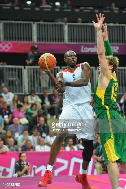 of Great Britain against Brazil at the Olympic Park Basketball Arena during the London Olympic Games on July 31 2012 in London England NOTE TO USER...