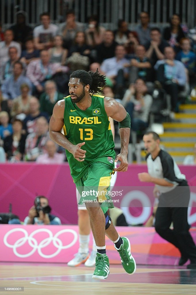 of Great Britain against Brazil at the Olympic Park Basketball Arena during the London Olympic Games on July 31, 2012 in London, England.