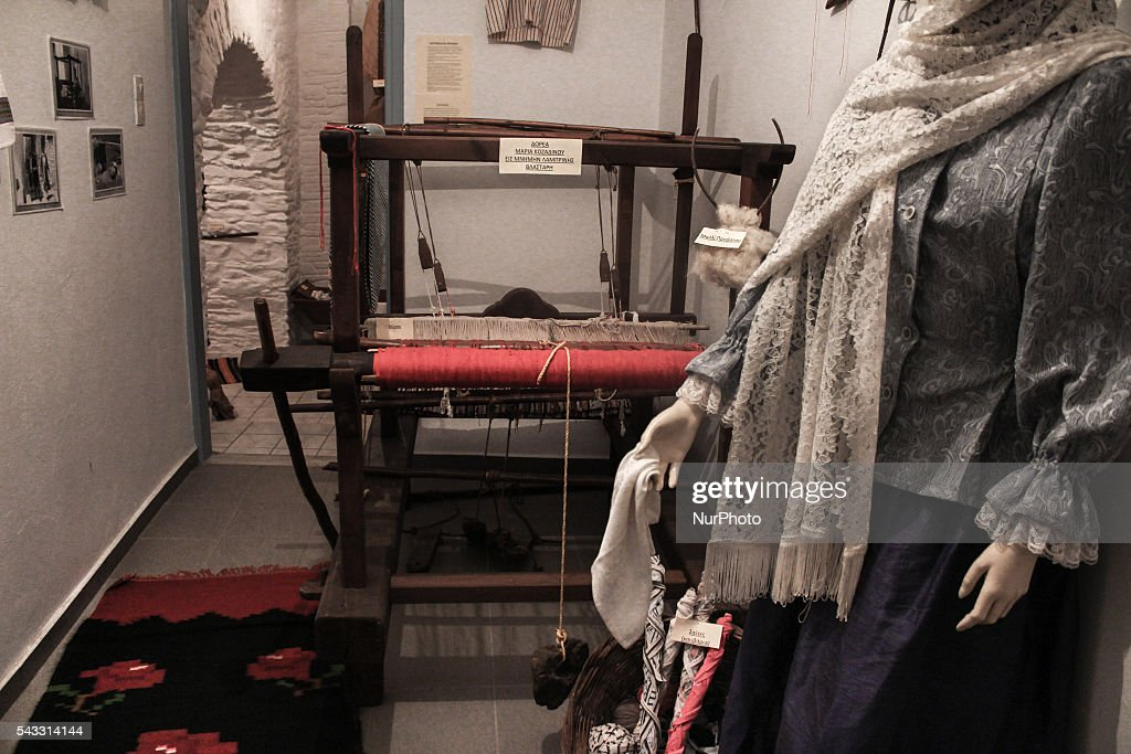 Of great interest is the Folklore Museum in Kythnos, Greece, on 27 June 2016. traditional clothing and objects at the folklore museum that used from residents of the island of Kythnos.