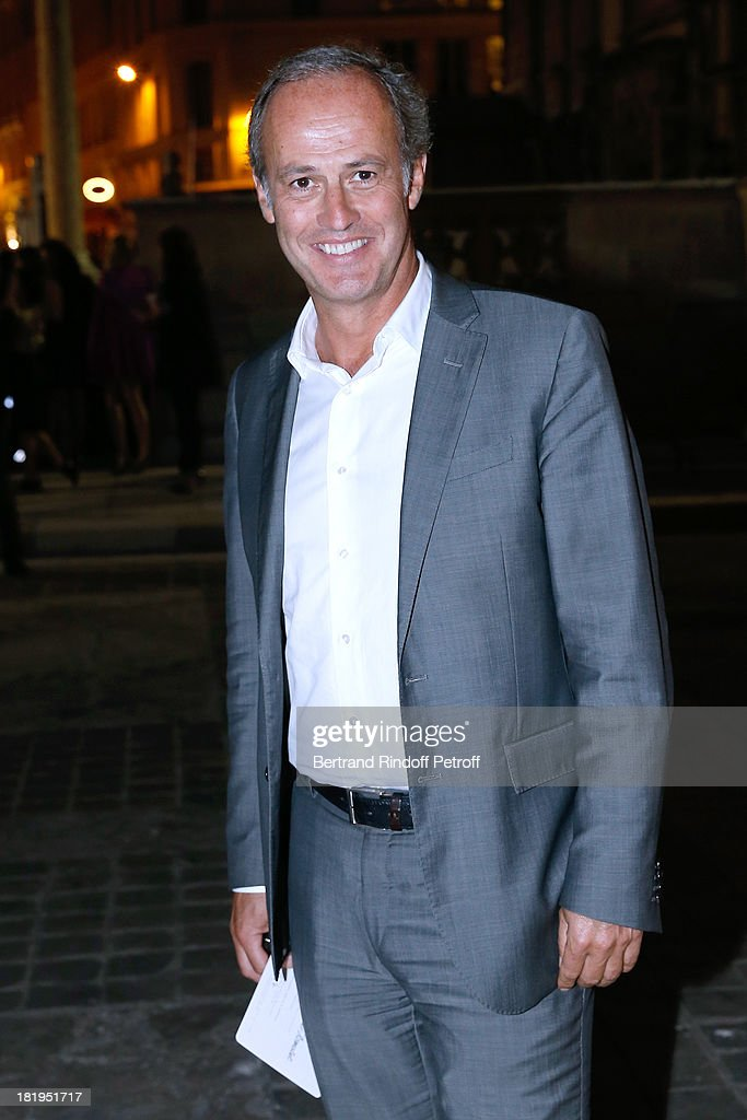 CEO of group Conde Nast France, Xavier Romatet arriving at Lanvin show as part of the Paris Fashion Week Womenswear Spring/Summer 2014, held at 'Ecole des beaux Arts' on September 26, 2013 in Paris, France.