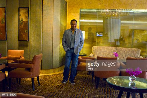 CEO of Groupon Kalyana Raman poses during an exclusive interview on March 29 2014 in New Delhi India
