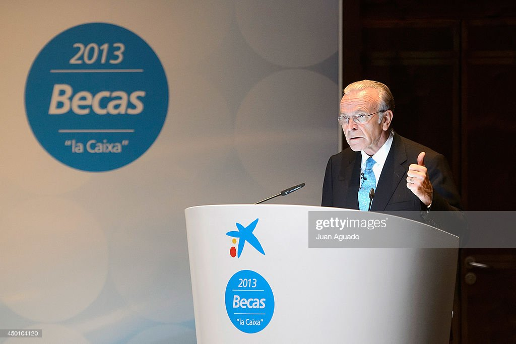 CEO of Grupo La Caixa Isidro Faine Attends the Delivery of 'La Caixa' Scholarships in Madrid on June 5, 2014 in Madrid, Spain.
