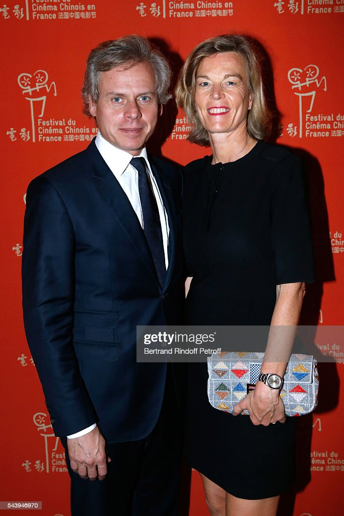 CEO of Guerlain Laurent Boillot, his wife Sara arrives at the 6th Chinese Film Festival