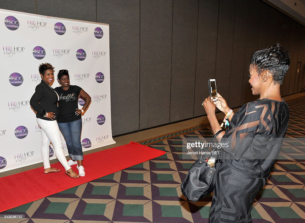 CEO of Hip Hop Sisters Foundation Lynn Richardson (R) attends Women, Wealth, and Relationships presented by HIP HOP SISTERS during the 2016 BET Experience on June 25, 2016 in Los Angeles, California.