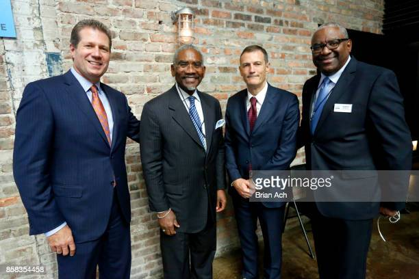 CEO of HMSHost Steve Johnson US Representative Gregory Meeks CEO of Autogrill Group Gianmario TOndato Da Ruos and Executive Vice President of...