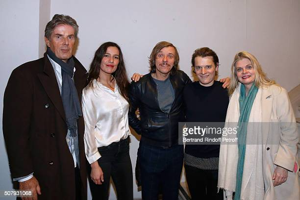 CEO of Hotel Barriere Dominique Desseigne Actors of the Piece Zoe Felix Pascal Demolon Benabar and Stage Director of the Piece Isabelle Nanty the...