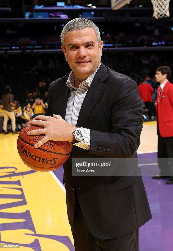 CEO of Hublot, Ricardo Guadalupe is seen during a presentation naming Hublot the official timekeeper of the Los Angeles Lakers at Staples Center on January 29, 2013 in Los Angeles, California.
