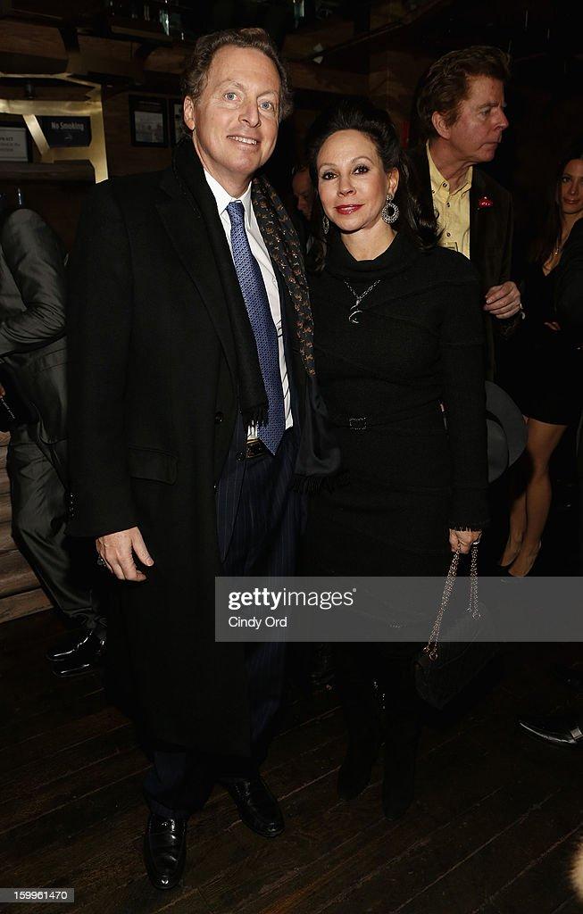 CEO of Hudson Media James Cohen and wife attend DuJour Magazine Gala With Coco Rocha & Nigel Barker Presented by Invicta at Scott Sartiano and Richie Akiva's The Darbyon January 23, 2013 in New York City.