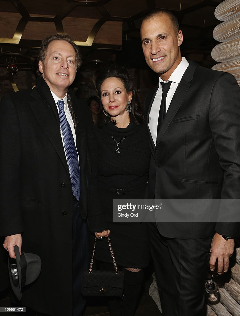 CEO of Hudson Media James Cohen, his wife, and Nigel Barker attend DuJour Magazine Gala With Coco Rocha & Nigel Barker Presented by Invicta at Scott Sartiano and Richie Akiva's The Darbyon January 23, 2013 in New York City.