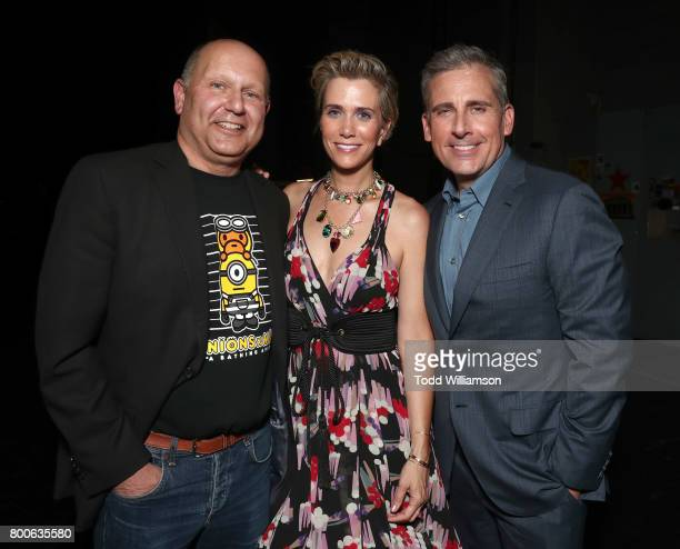 CEO of Illumination Entertainment and Producer Chris Maledandri Kristen Wiig and Steve Carell attend the Premiere Of Universal Pictures And...